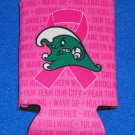 "*SPECIAL ""TULANE UNIVERSITY"" BREAST CANCER AWARENESS KOOZIE ANGRY WAVE GREENIES"