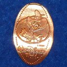 """WALT DISNEY WORLD"" SHERIFF DONALD DUCK SOUVENIR PENNY FRONTIER TRADING POST"