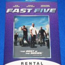 AWESOME FAST FIVE MOVIE PLACARD PAUL WALKER VIN DIESEL THE ROCK FAST AND FURIOUS