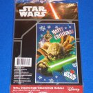 BRAND NEW WALT DISNEY STAR WARS YODA CHRISTMAS WALL DECORATION *FACTORY SEALED*