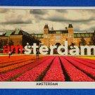 BRAND NEW STRIKING GREETINGS FROM AMSTERDAM POSTCARD DUTCH NATIONAL RIJKSMUSEUM