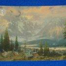 CHARMING THOMAS KINKADE GREAT NORTH ART CARD SNOWY MOUNTAINS LANDSCAPE VILLAGE