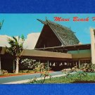 VINTAGE BEAUTIFUL MAUI BEACH HOTEL POSTCARD SOUVENIR TRADITIONAL HAWAIIAN HOTEL