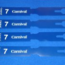 *BRAND NEW* CARNIVAL CRUISE LINES SHIP DEBARKATION LUGGAGE TAGS TAIL FIN FUNNEL