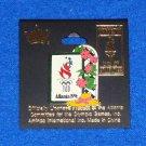 VINTAGE ATLANTA 1996 OLYMPICS LOGO PIN WITH ORIGINAL BACKING *GREAT TRADING PIN*