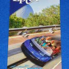 """WALT DISNEY"" EPCOT BROCHURE THEME PARK GUIDE MAP SPACESHIP EARTH TEST TRACK"