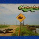 *BRAND NEW* IRRESISTIBLE LOUISIANA ALLIGATOR CROSSING SIGN POSTCARD COLLECTIBLE