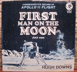 First Man On the Moon 45 Record  Apollo 11 Hugh Downs NM NASA