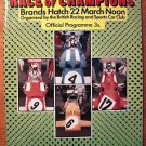 Race of Champion Program March 22 1970 Brands Hatch