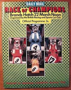 Race of Champion Program March 22 1970 Brands Hatch