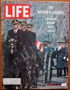 Life Magazine February 10, 1967 : Cover - Gus Grissom's caisson at Arlington.