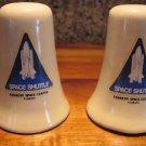 VINTAGE CERAMIC SALT & PEPPER SHAKERS~SOUVENIRS~SPACE SHUTTLE FLORIDA