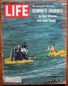 Life Magazine, April 2, 1965 - Gemini's splashdown NASA
