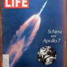 Life Magazine October 25, 1968 : Cover - Schirra and Apollo 7 launch. NASA