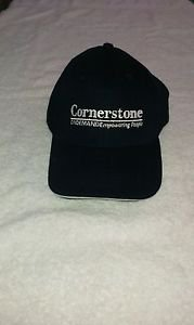 Cornerstone Navy Embroidered Logo Baseball Hat / Cap