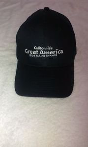 """Californias Great America Ride Maintenance"" Embroidered Logo Baseball Hat / Cap"