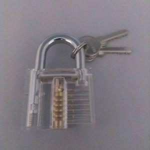 BullKeys Transparent PadLock With Two Keys