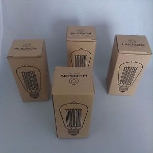 Vintage Edison Bulb - 4 Pack - ST64 - Squirrel Cage Filament - Dimmable