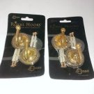 SOLID BRASS Royal Hooks by Conso. Two packs as pictured.