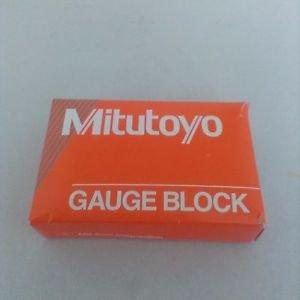 """Mitutoyo Steel Rectangular Gage Block, ASME Grade AS-1, 0.1"""" Length"""
