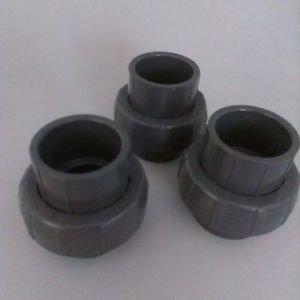 "Lot of 3 LASCO 1-1/2"" Schedule 80 Gray PVC Socket Union"