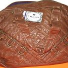 NEW WOMENS VIGOSS TOTE BAG HANDBAG PURSE BROWN FAUX LEATHER