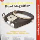 NEW SE ILLUMINATED MULTI-POWER HEAD MAGNIFIER MH1047L BLACK & GRAY FREE SHIPPING