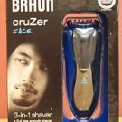 NEW BRAUN TYPE 5733 CRUZER 5 3-IN-1 FACE SHAVER W/TWISTABLE TRIMMER