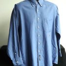 TOMMY HILFIGER MEN'S LONG SLEEVE DRESS SHIRT BLUE NECK 16 SLEEVE 32/33
