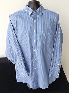 MEN'S CHAPS BY RALPH LAUREN LONG SLEEVE DRESS SHIRT NECK 17 SLEEVE 32/33 XL BLUE