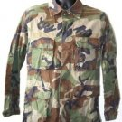 US ARMY/MARINE WOODLAND CAMO BLOUSE SHIRT S/L SMALL LONG