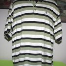 MEN'S LINKSPORT BY AUSTAD'S GOLF SHIRT XL NAVY BLUE / GREEN / WHITE POLO RUGBY