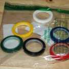 "WESTCOTT ARTIST TAPE 1/8"" PACK OF 5-ASSORTED COLORS FREE SHIPPING"