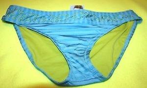 NEW MOSSIMO WOMEN'S BLUE / GREEN BIKINI BOTTOMS SIZE XL SWIMWEAR SWIM SUIT
