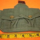 AUTHENTIC VINTAGE US ARMED FORCES GREEN DOUBLE MAG POUCH 4x7