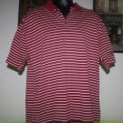 NIKE MEN'S TIGER WOODS GOLF SHIRT SIZE XL RUGBY POLO RED WHITE GRAY