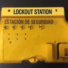 MASTERLOCK UNFILLED LOCKOUT/TAGOUT STATION YELLOW SAFETY MLK1482