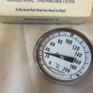 NEW ASHCROFT INDUSTRIAL THERMOMETERS 3'' BIMETAL 3 IN 1/2 CONN 9 IN STEM