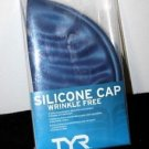 NEW TYR SPORT SILICONE CAP WRINKLE FREE-BLUE