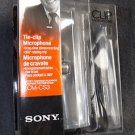 NEW SONY TIE CLIP MIC MICROPHONE SILVER FREE SHIPPING
