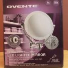 "NEW OVENTE 7.5 "" DUAL SIDED 1X-10X LED LIGHTED BATTERY OR USB POLISHED CHROME"