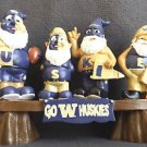 FOREVER COLLECTIBLES TEAM GNOME WASHINGTON HUSKIES COLLEGIATE LICENSED PRODUCT