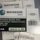 NEW SET OF 3 MATHESON SELECT PREMIUM QUALITY VISOR IMPACT 1-EA 9'' X 15-1/2''