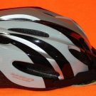 NEW USA ADULT BICYCLE HELMET 14+ BLACK / SILVER ADJUSTABLE