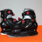 NEW AMERICAN ATHLETIC COUGAR YOUTH ICE SKATES YOUTH SIZE 1-4 ADJUSTABLE BLACK