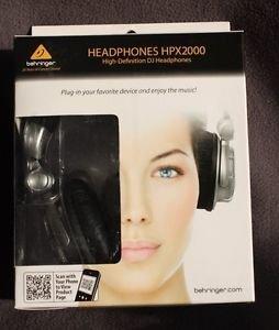 NEW BEHRINGER HI-DEFINITION DJ HEADPHONES HPX2000 SILVER/BLACK