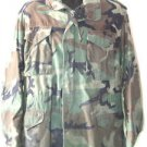 US ARMY COLD WEATHER CAMO FIELD COAT JACKET M/L MEDIUM LONG WOODLAND