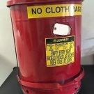 JUSTRITE 21 GALLON OILY WASTE CAN WITH SOUNDGARD 19 INCH ROUND x 24 INCH