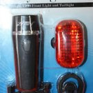 New Bicycle Light Set Bright 5 Led Headlight 3 Taillight Quick Release