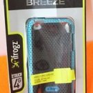 NEW IFROGZ BREEZE IPOD TOUCH 4TH GENERATION FLEXIBLE COVER BLACK AND TEAL